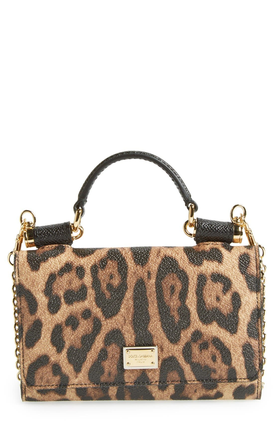 Alternate Image 1 Selected - Dolce&Gabbana Leopard Print Smartphone Wallet