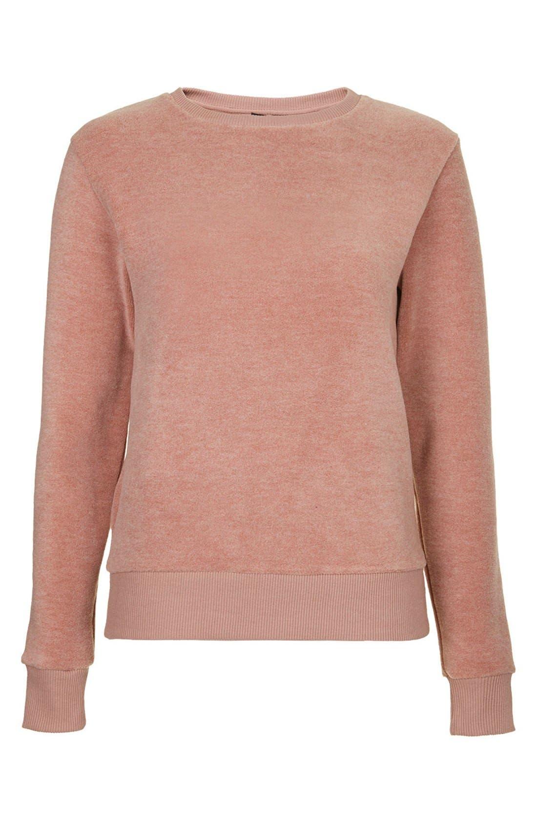 Alternate Image 3  - Topshop Fleece Crewneck Sweater