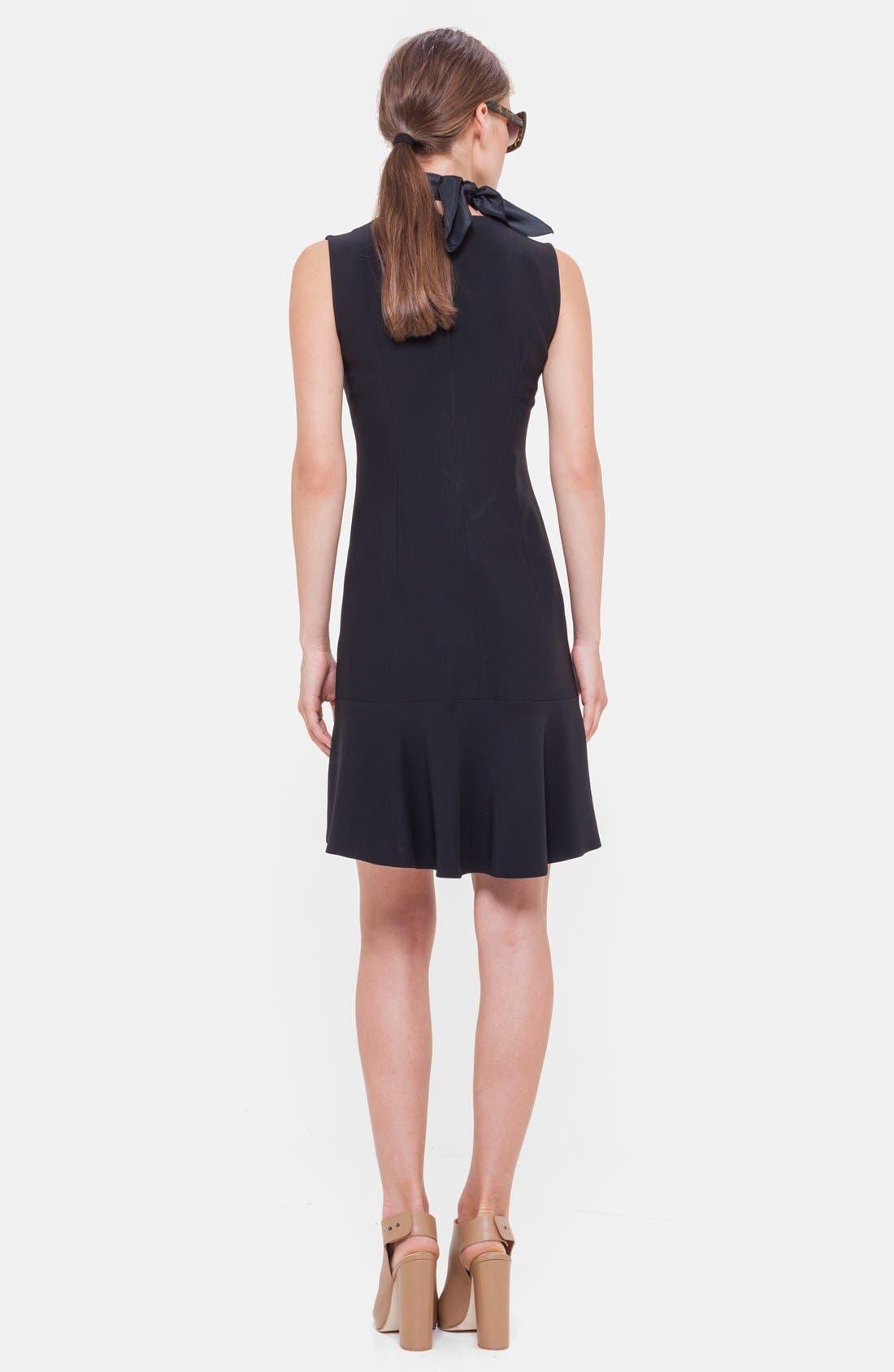 Alternate Image 2  - Akris punto Flounce Hem Sleeveless Dress