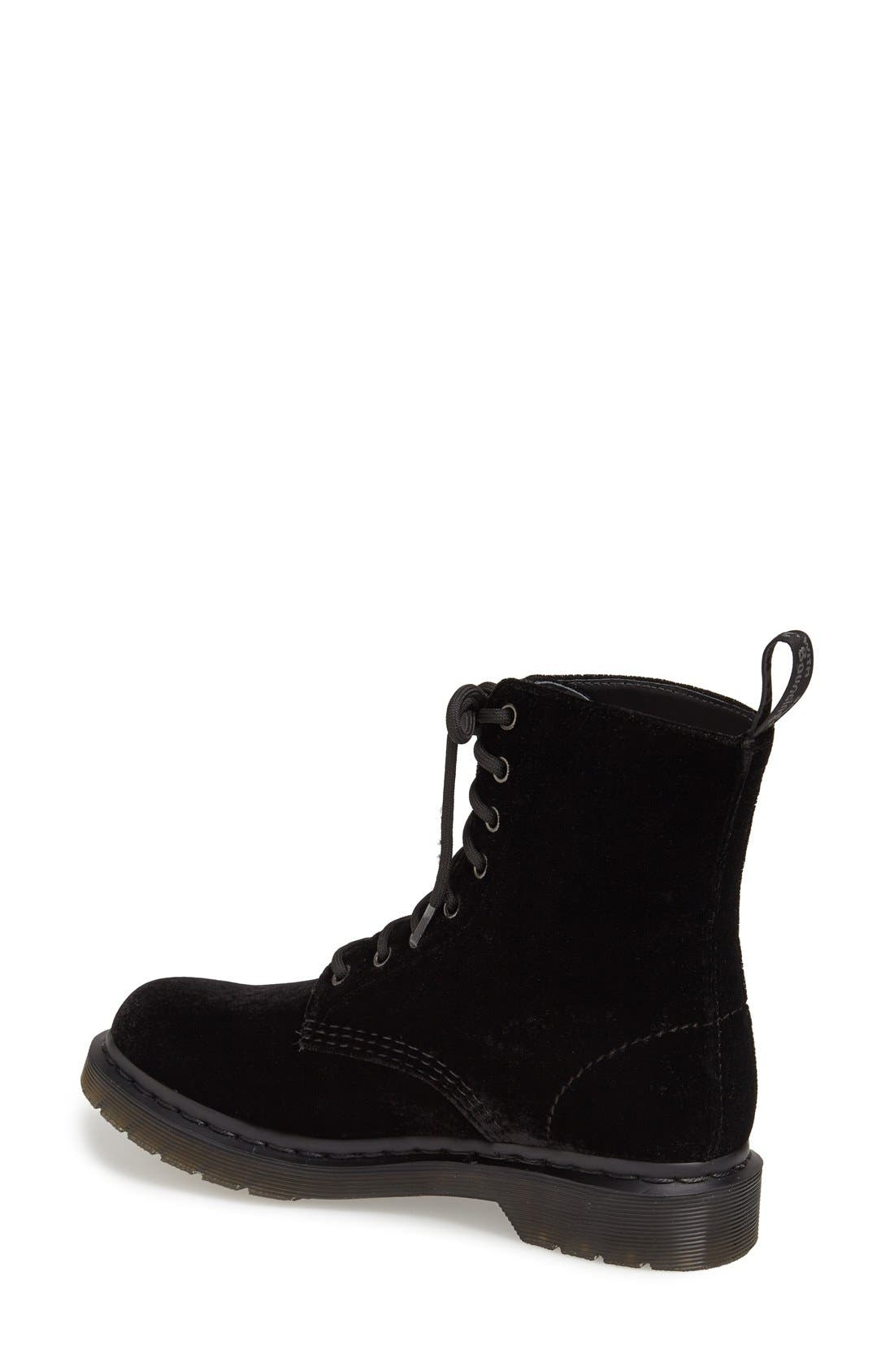 Alternate Image 2  - Dr. Martens 'Page 8-Eye' Velvet Boot (Women)