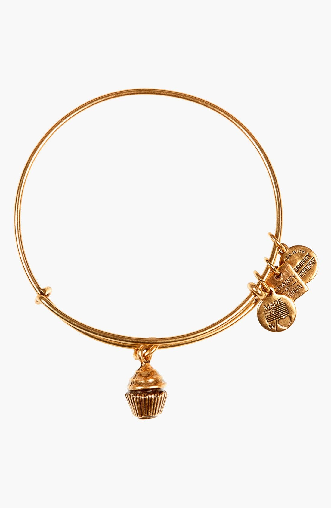 Main Image - Alex and Ani 'Charity by Design - Cupcake' Expandable Wire Bangle