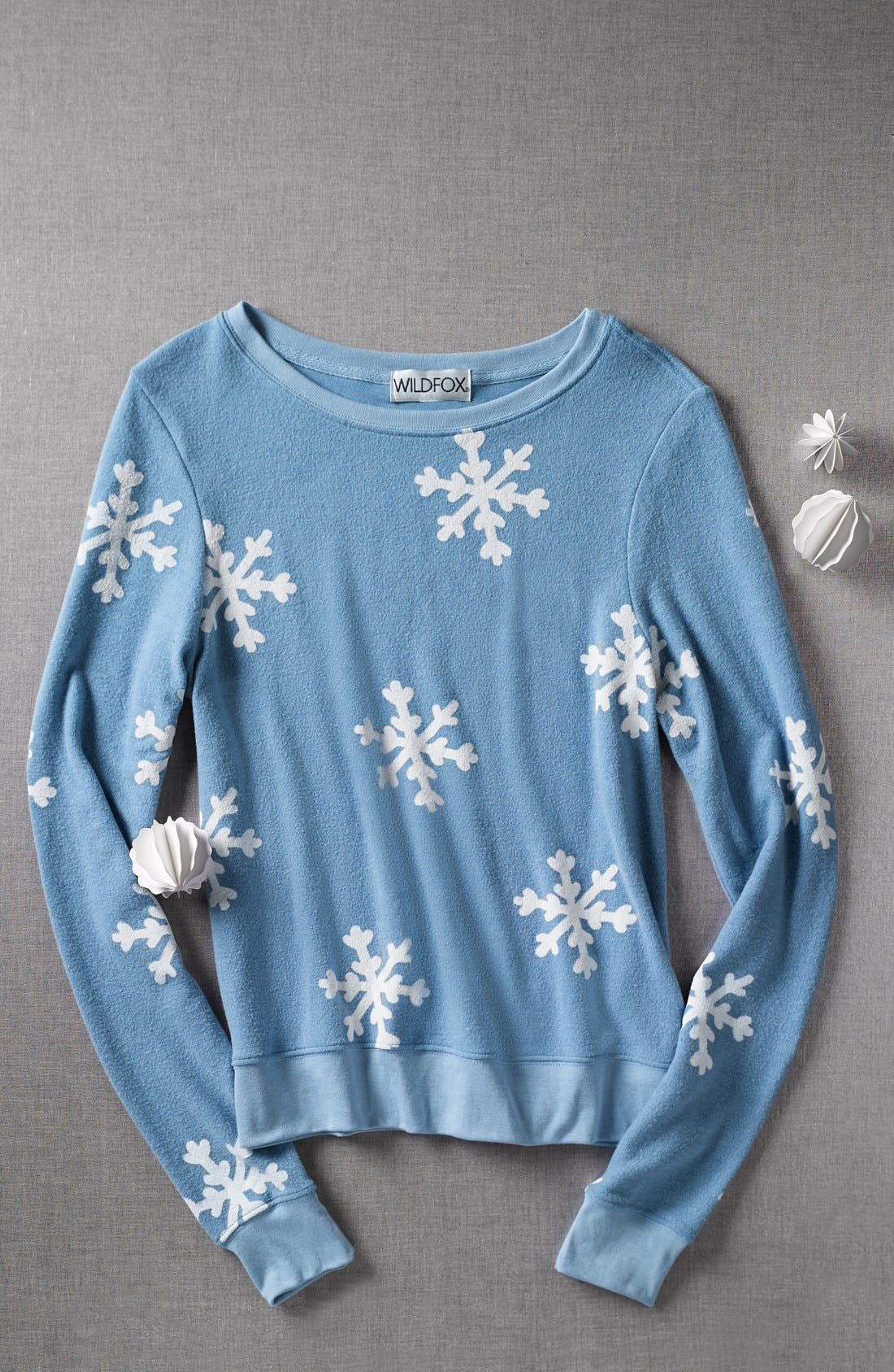 Alternate Image 4  - Wildfox 'Snowflake' Baggy Beach Jumper Pullover