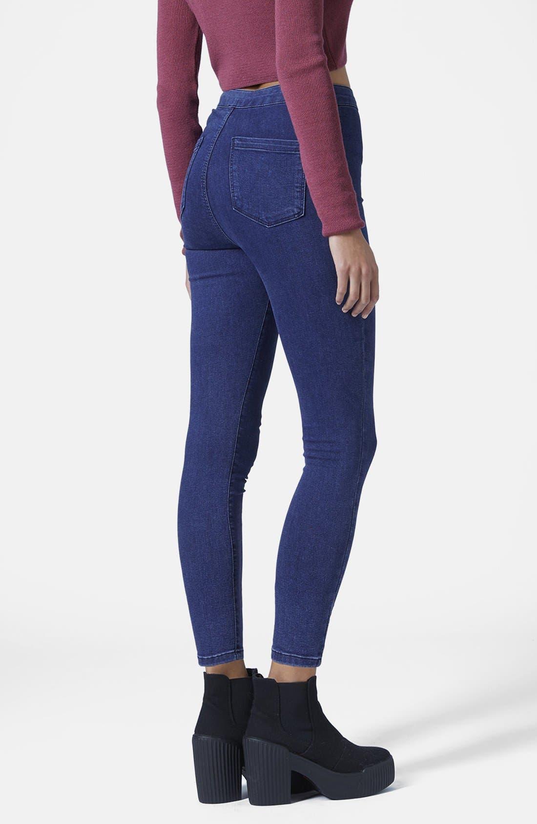 Alternate Image 2  - Topshop Moto 'Joni' High Rise Skinny Jeans (Dark Stone)