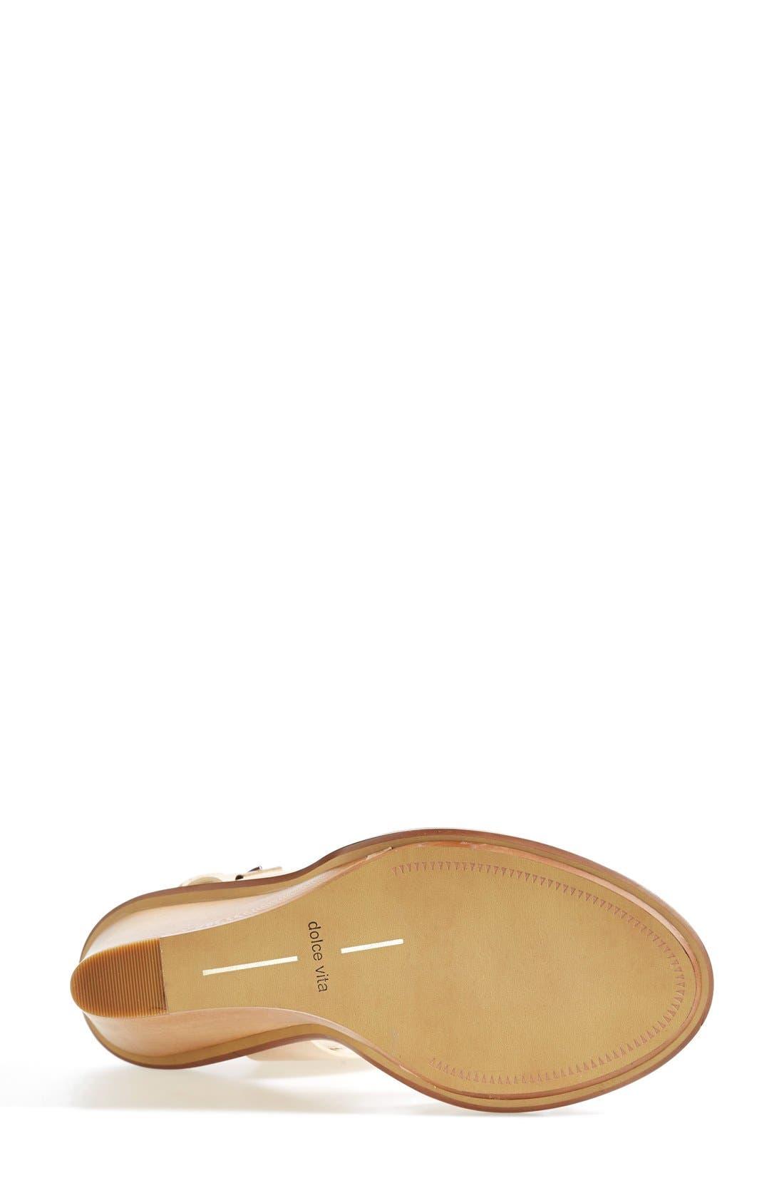 Alternate Image 4  - Dolce Vita 'Jodi' Snake Embossed Leather Wedge Sandal (Women)