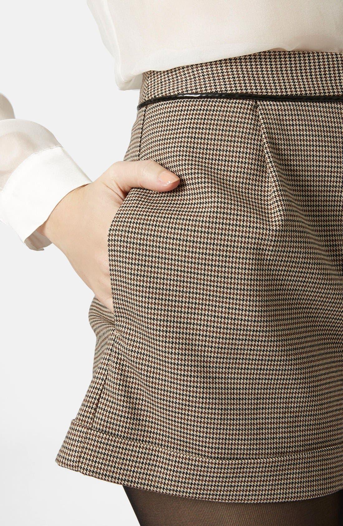 Alternate Image 4  - Topshop Check Mini Shorts