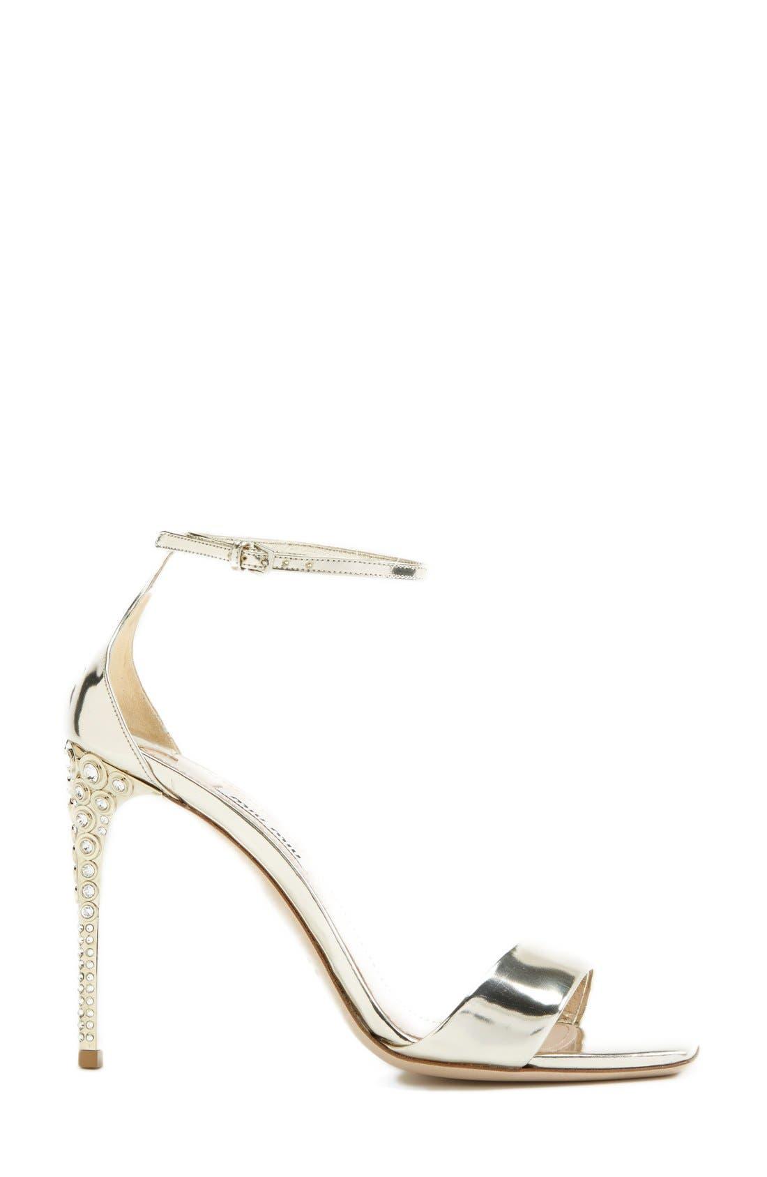 Alternate Image 4  - Miu Miu Metallic Ankle Strap Sandal (Women)