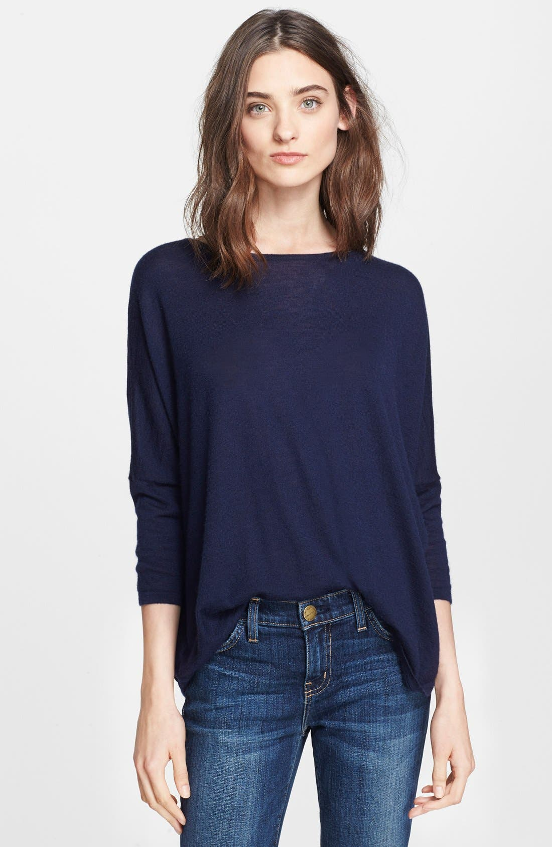 Alternate Image 1 Selected - autumn cashmere Drop Shoulder Asymmetrical Cashmere Sweater