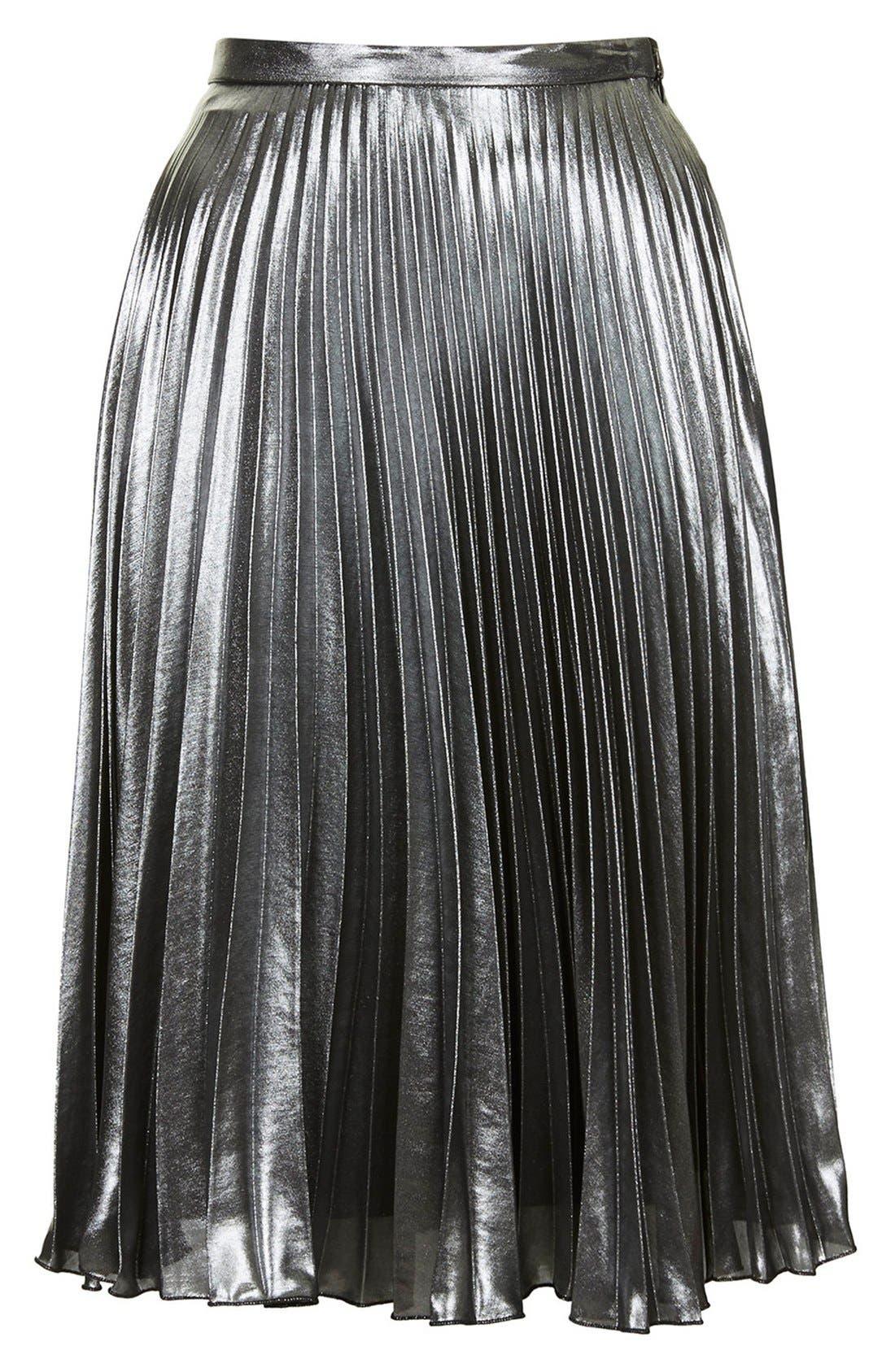 Alternate Image 3  - Topshop Pleated Midi Skirt