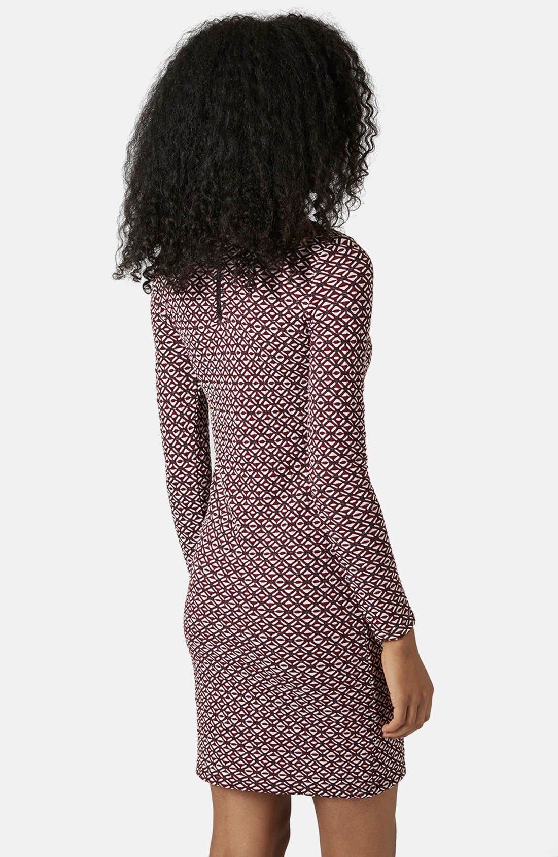 Alternate Image 2  - Topshop Mock Neck Body-Con Dress (Regular & Petite)