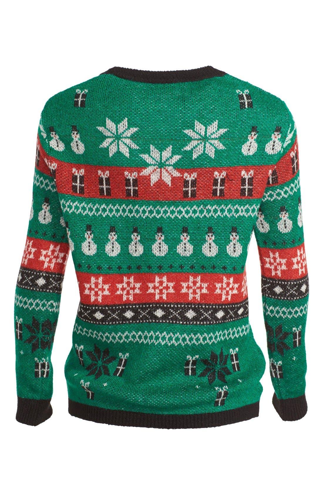 Alternate Image 2  - Topshop Fair Isle Christmas Sweater