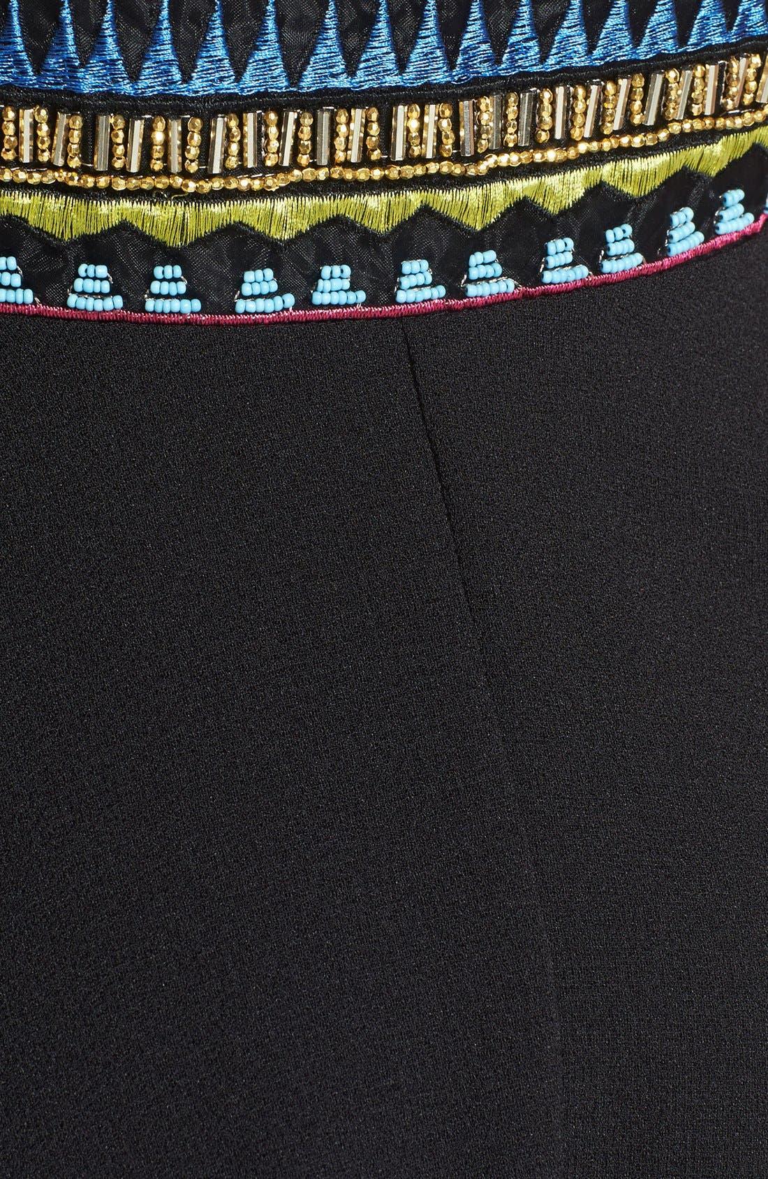 Alternate Image 3  - Basil Lola Embroidered Skater Dress (Juniors)
