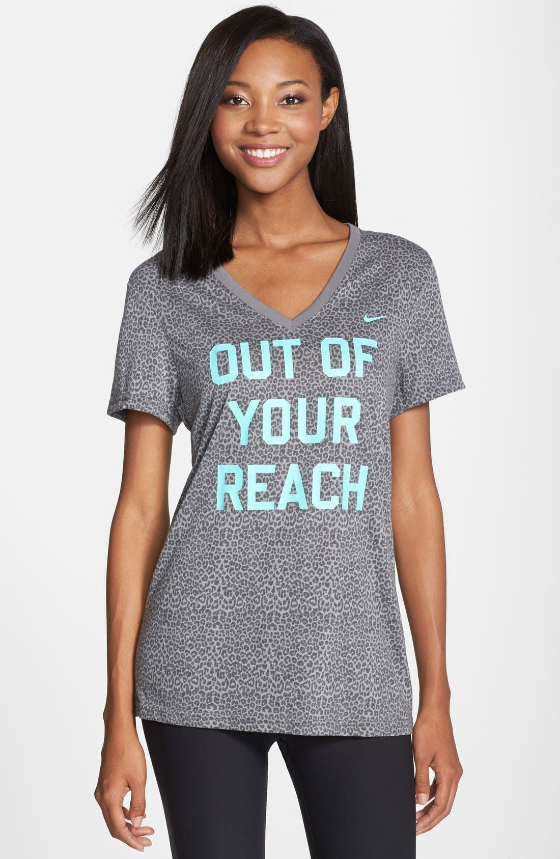 Alternate Image 1 Selected - Nike 'Out of Your Reach' Graphic Dri-FIT Tee