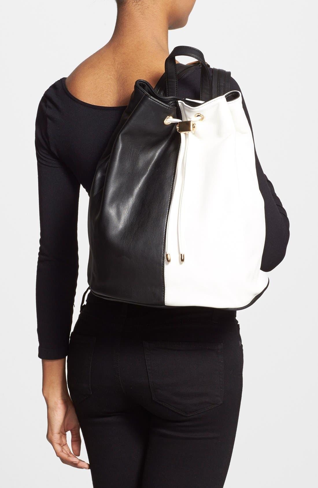 Alternate Image 2  - Deux Lux 'Mod' Colorblock Faux Leather Backpack