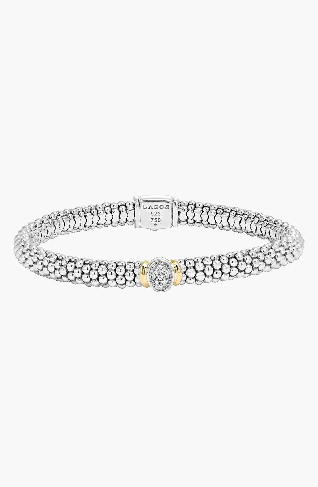 Main Image - LAGOS 'Twilight' Caviar™ Diamond Rope Bracelet
