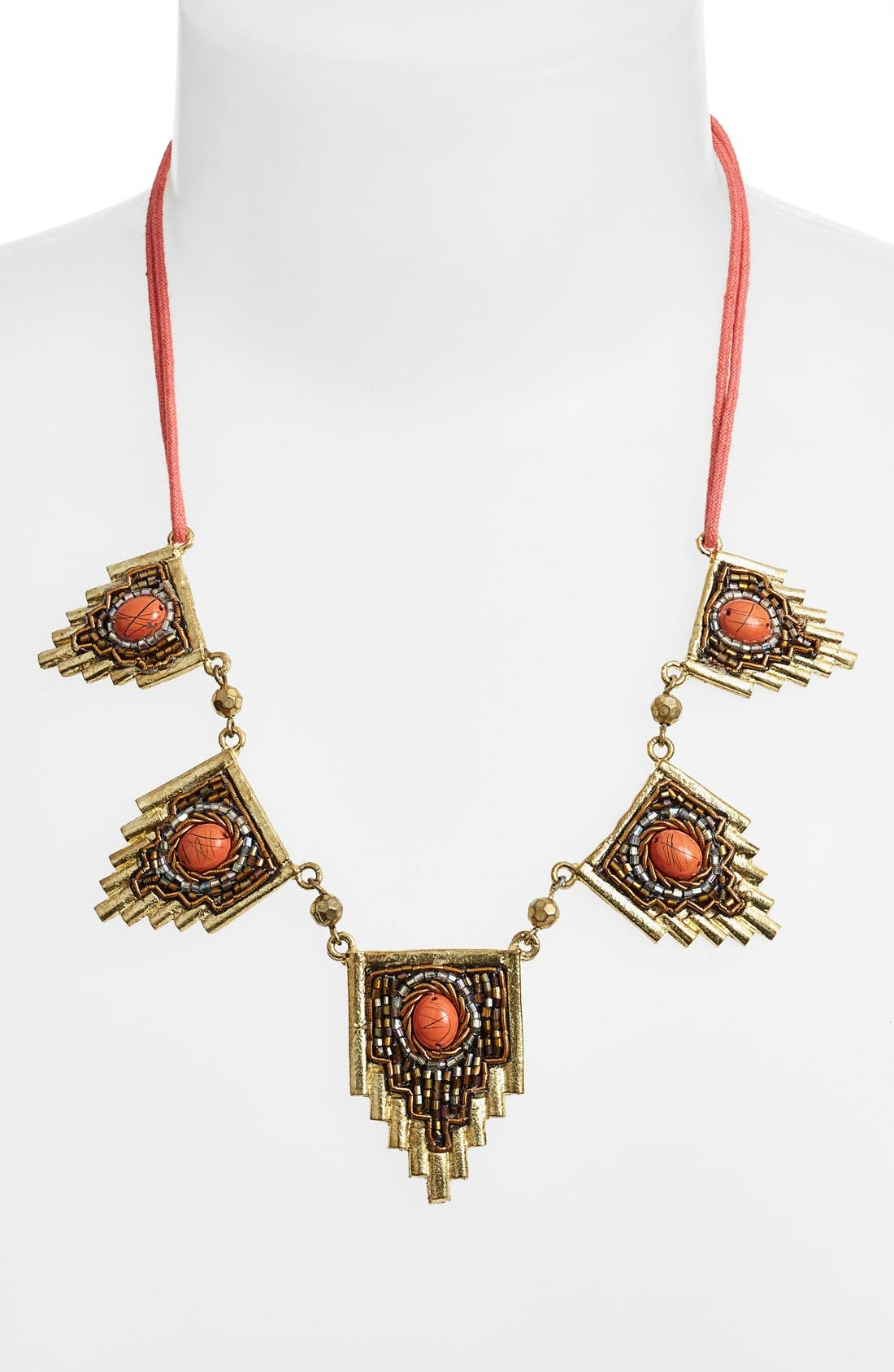 Alternate Image 2  - Berry 'Egyptian' Beaded Statement Necklace