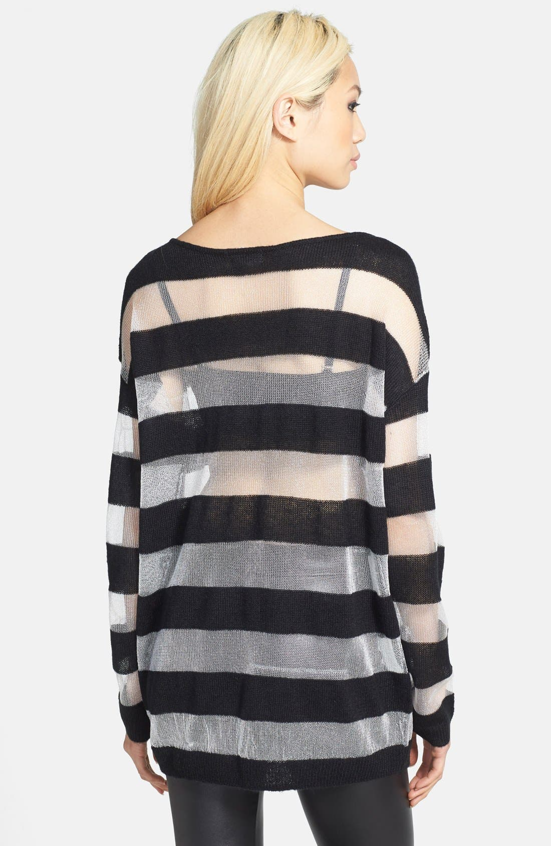 Alternate Image 2  - Leith Mixed Stripe Pullover
