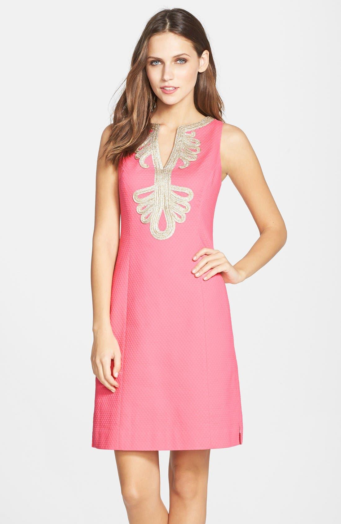 Main Image - Lilly Pulitzer® 'Janice' Soutache Trim Shift Dress