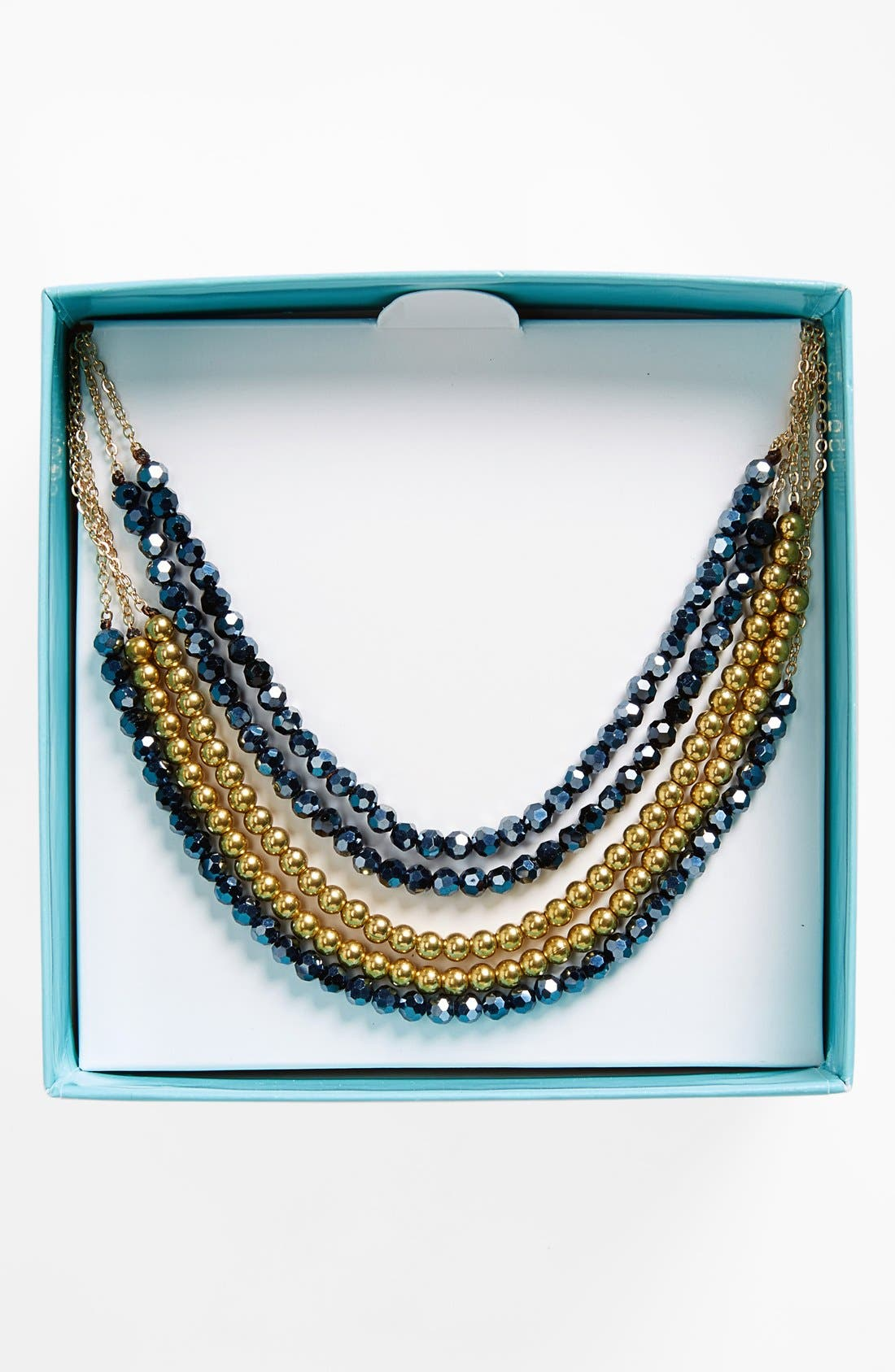 Main Image - Panacea Boxed Crystal Multistrand Necklace