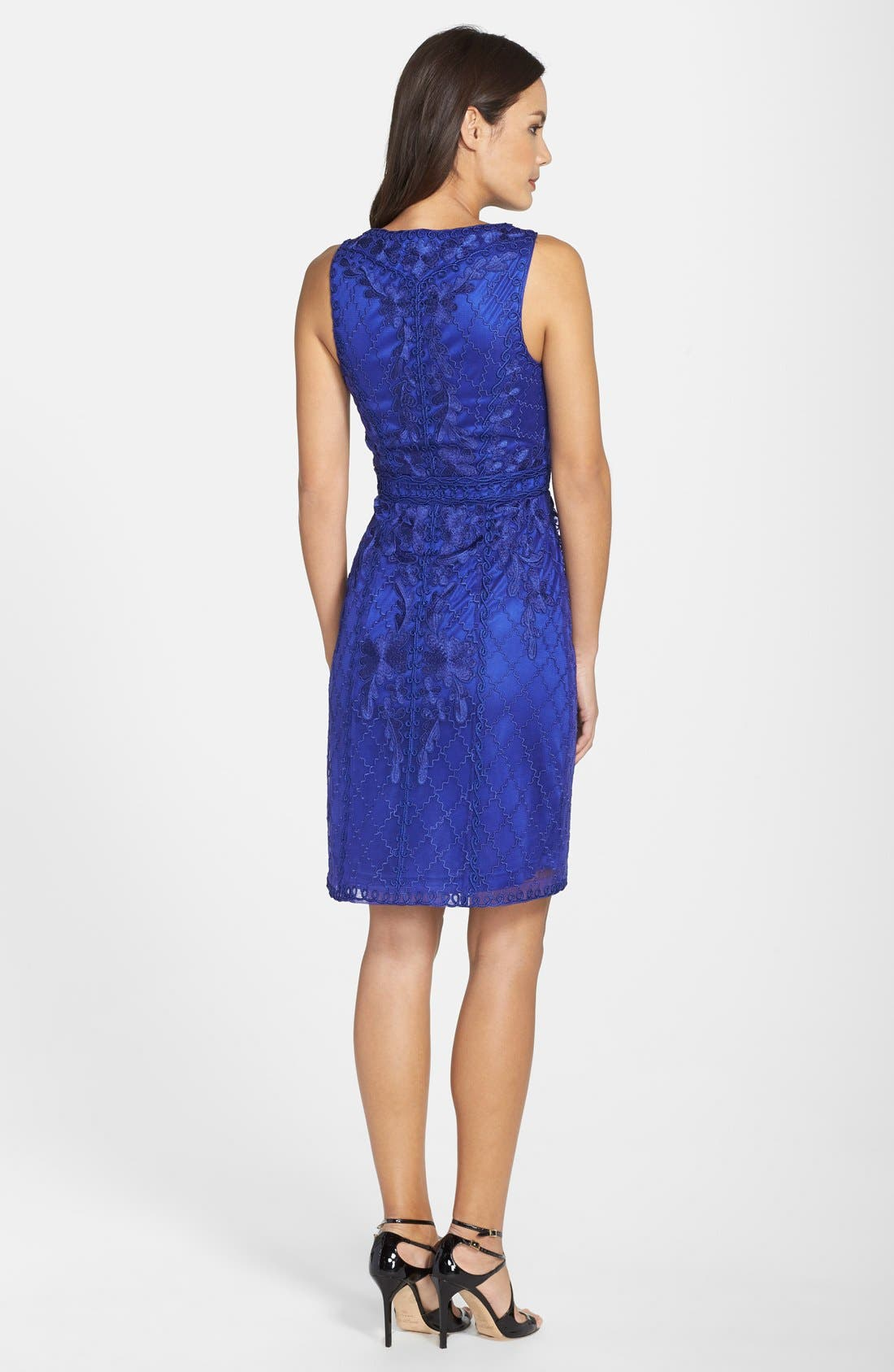 Alternate Image 2  - Sue Wong Sleeveless Embroidered Tulle Dress