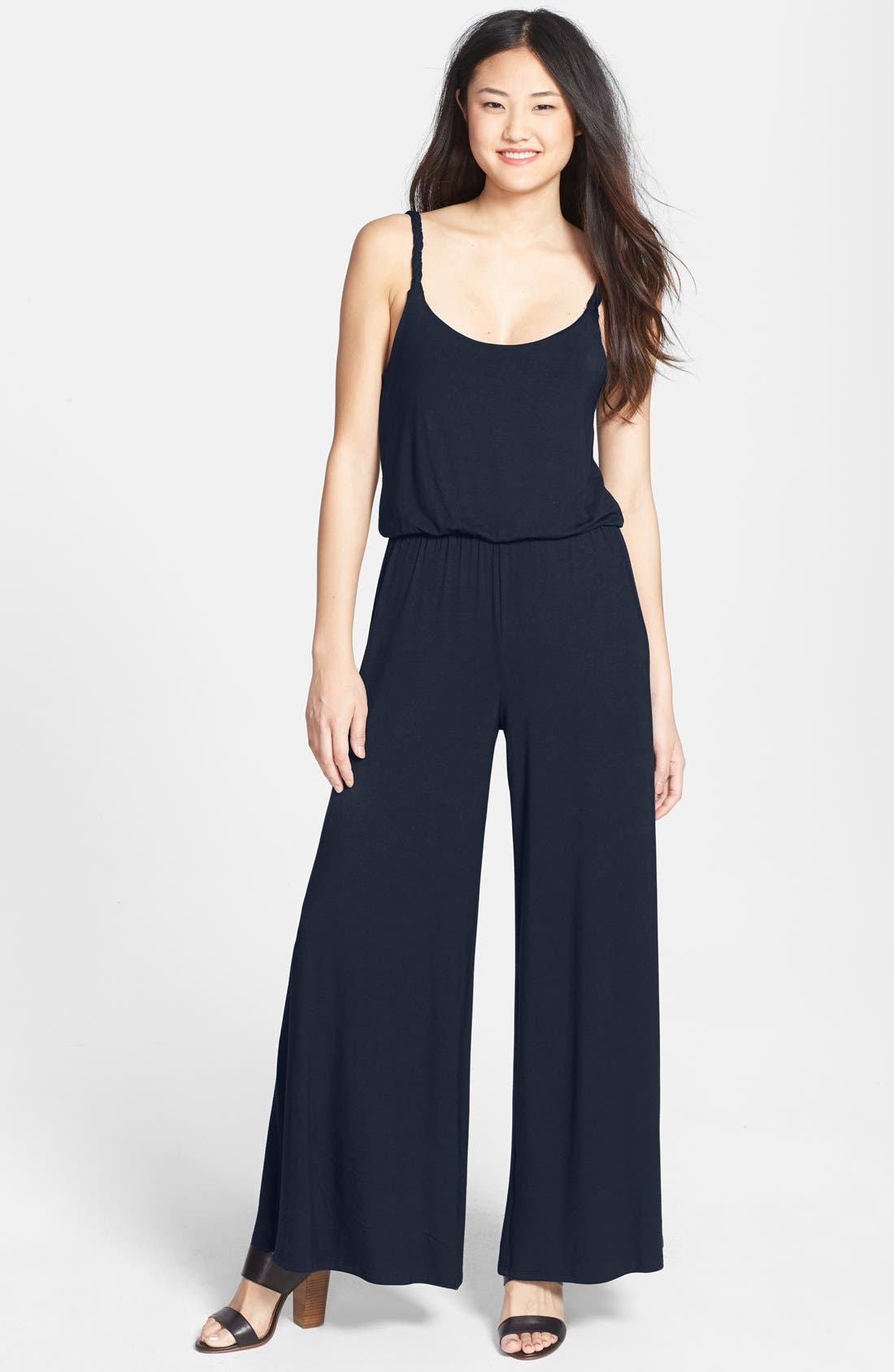 Alternate Image 1 Selected - Loveappella Wide Leg Pant Jumper (Petite)