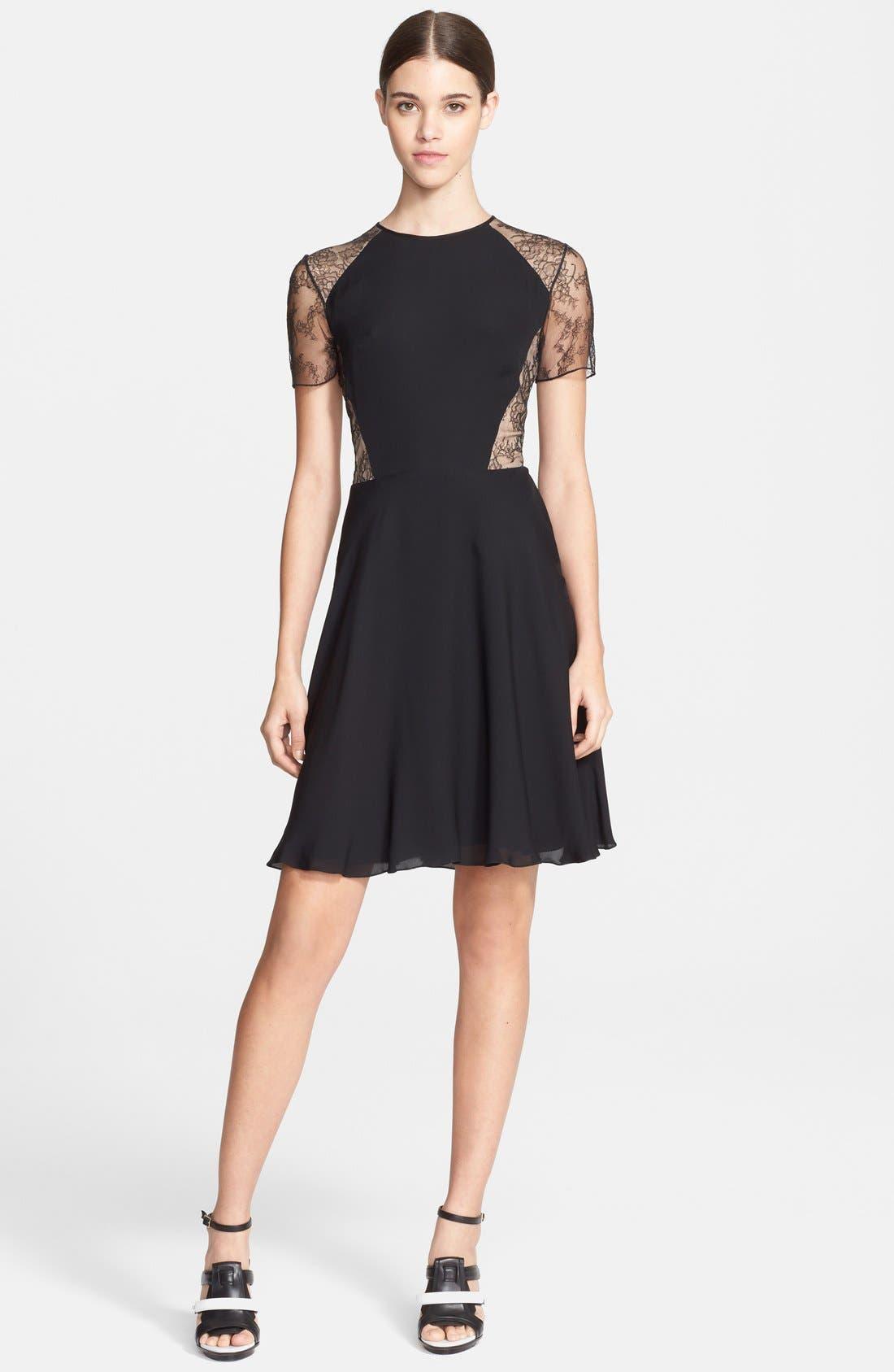 Alternate Image 1 Selected - Jason Wu Floral Lace & Silk Georgette Dress