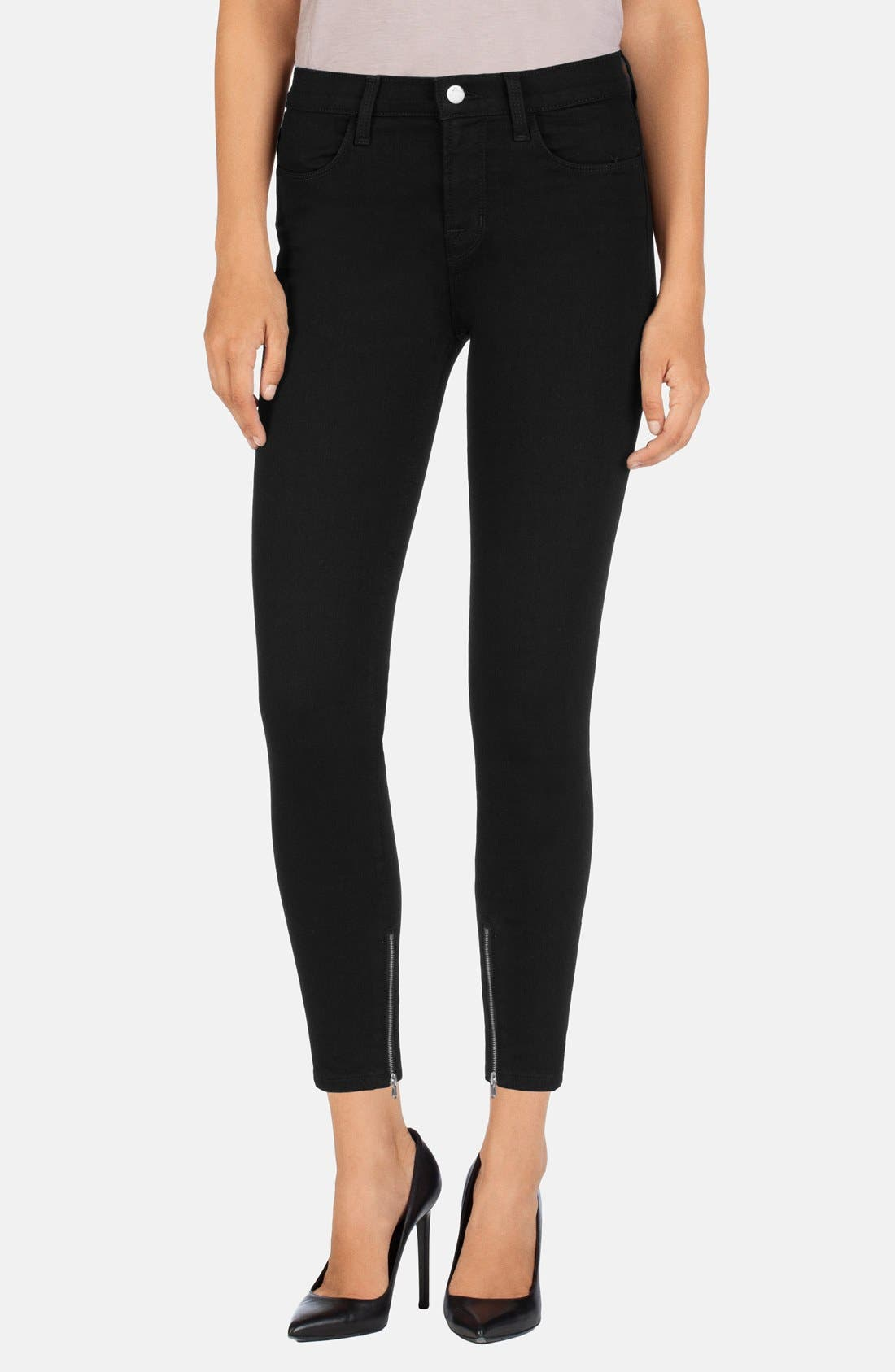 Main Image - J Brand 'Hanna' High Rise Crop Jeans (Vanity)