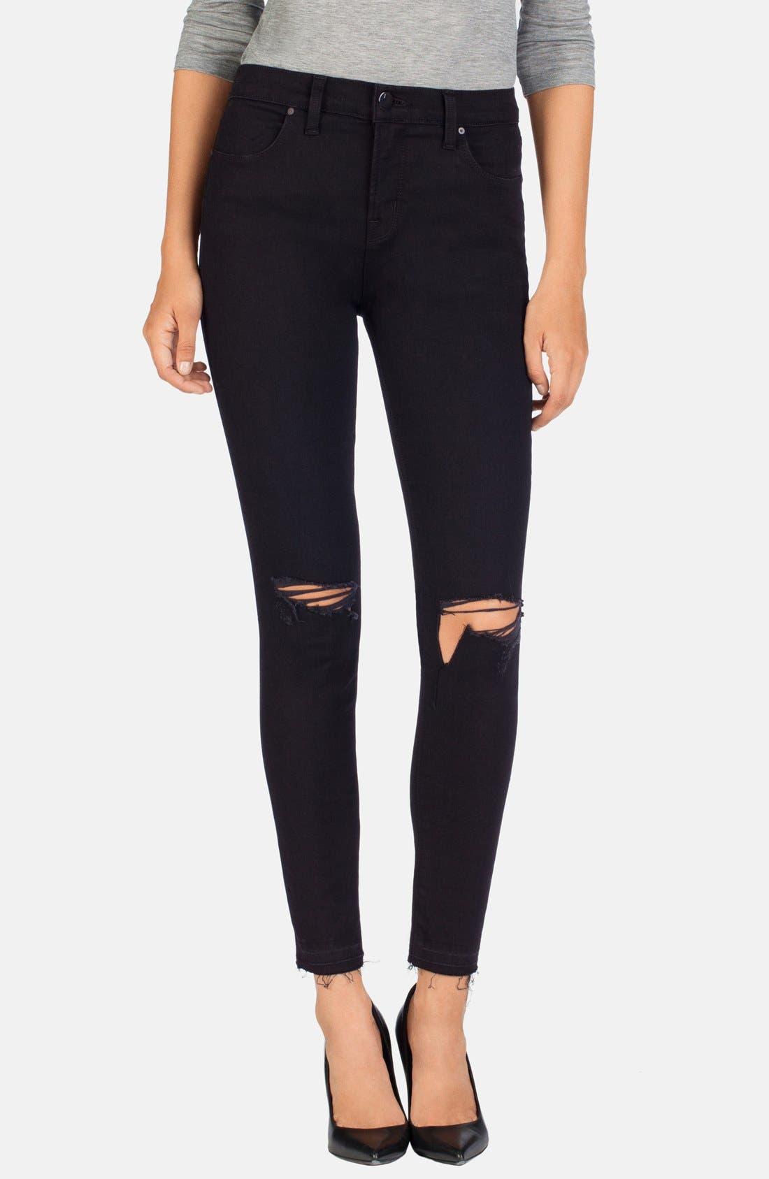 Alternate Image 1 Selected - J Brand 'Alana' High Rise Crop Jeans (Offbeat)