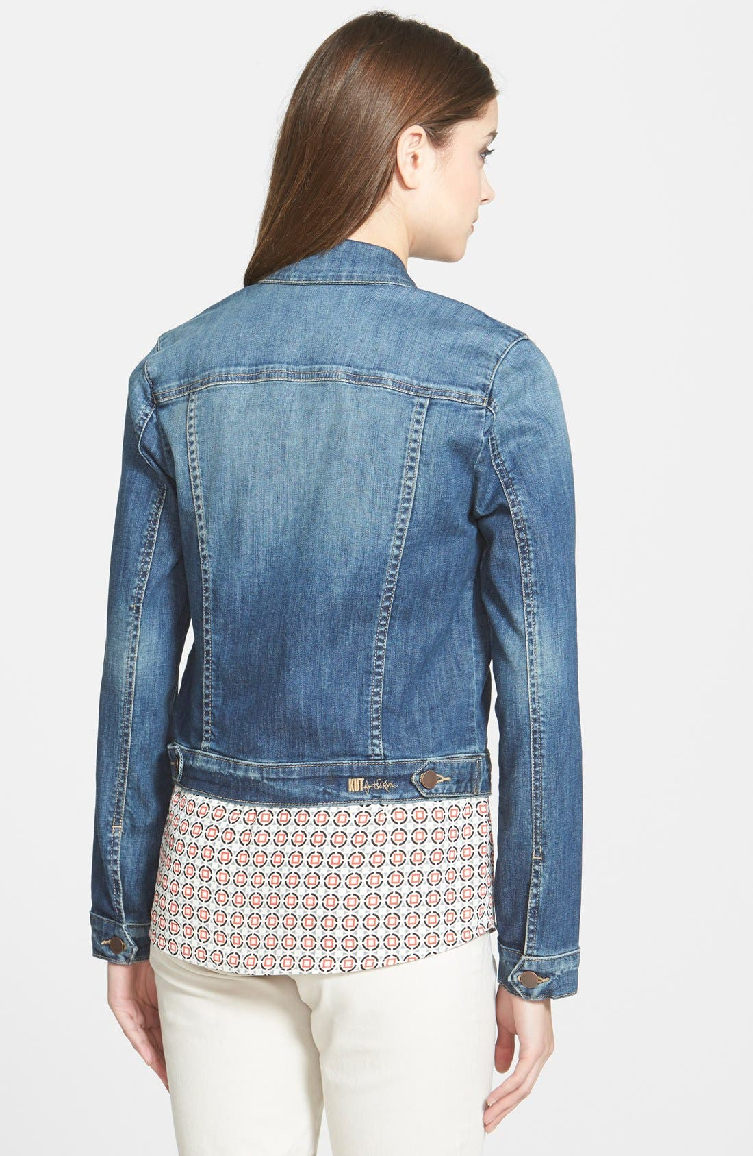 Alternate Image 3  - KUT from the Kloth 'Helena' Denim Jacket (Regular & Petite)