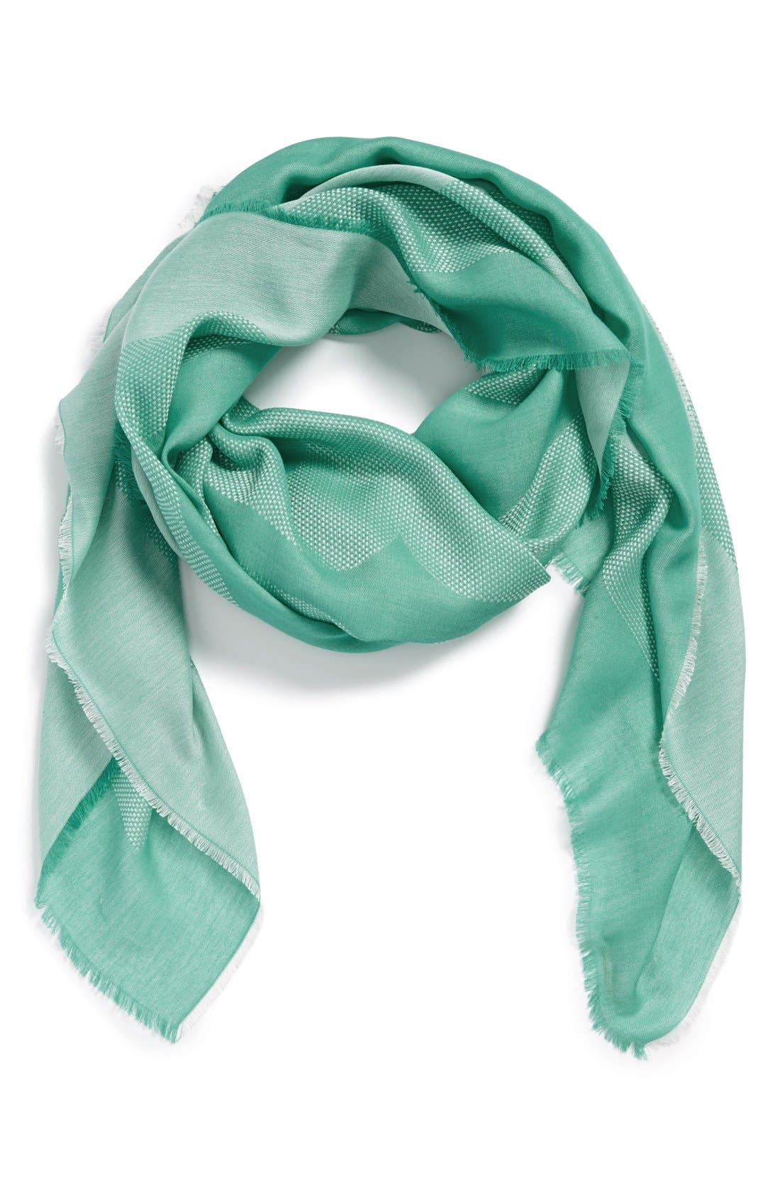 Alternate Image 1 Selected - Tory Burch Woven Logo Scarf