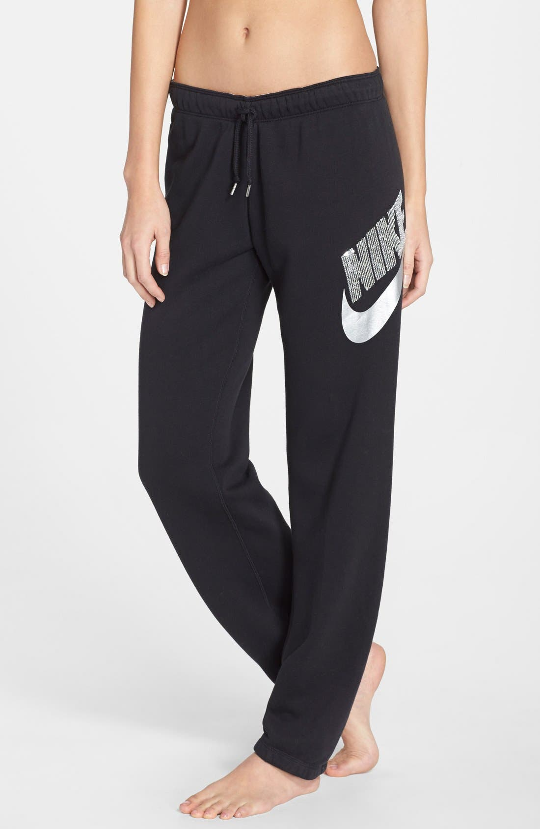 Alternate Image 1 Selected - Nike 'Rally' Sequin Logo Sweatpants