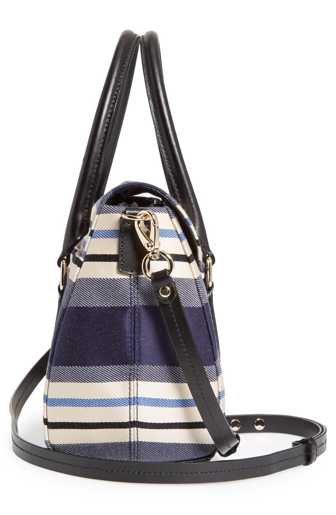 Alternate Image 4  - kate spade new york 'grove court - small leslie' stripe satchel