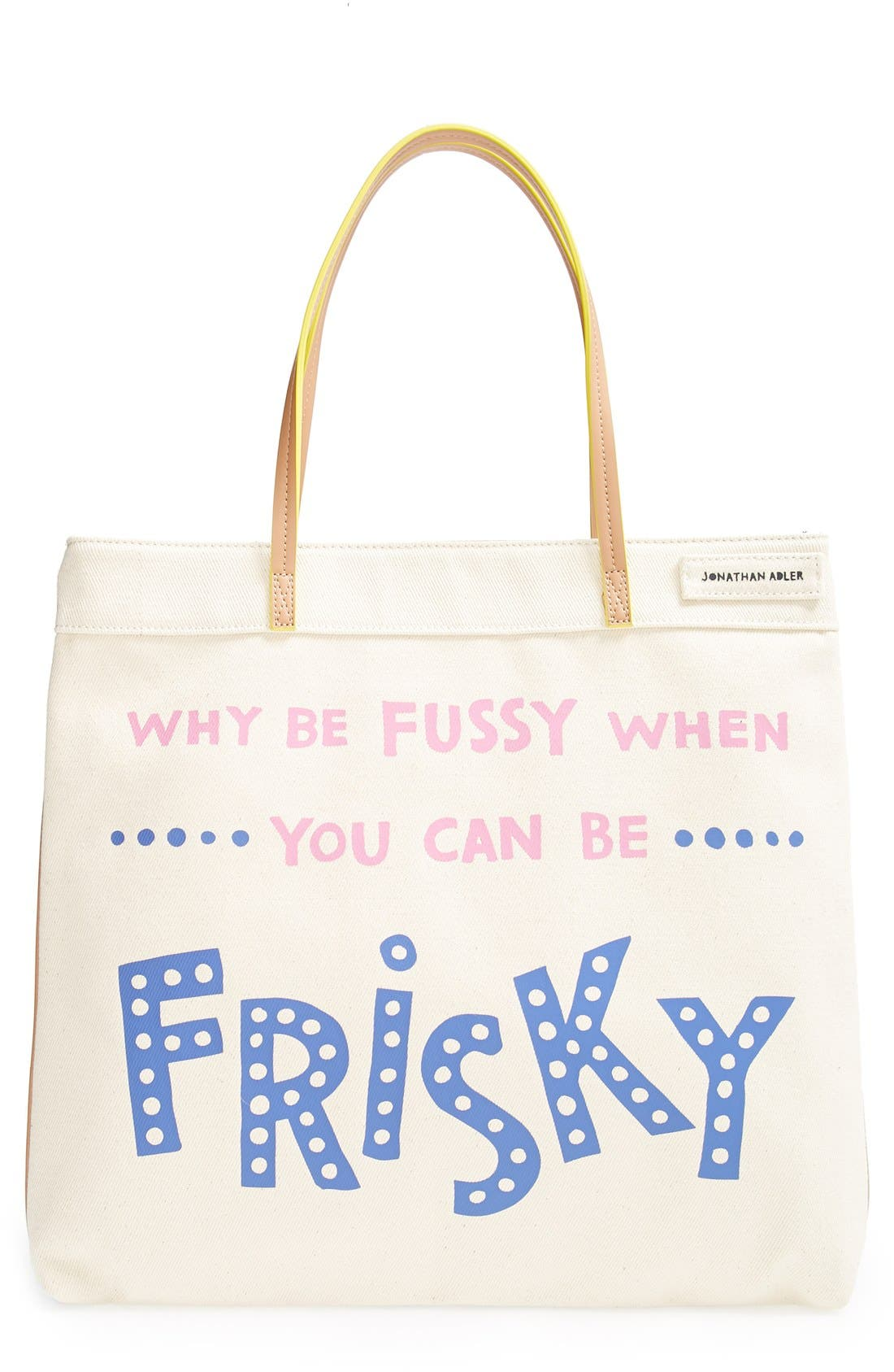 Alternate Image 1 Selected - Jonathan Adler 'Be Frisky' Small Canvas Tote