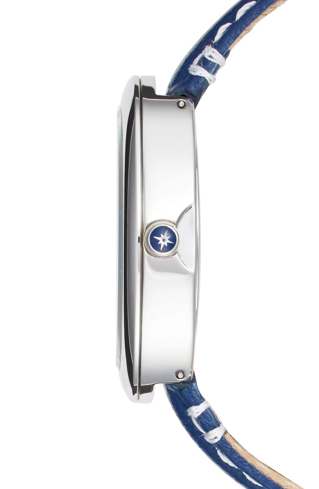Alternate Image 3  - Sperry 'Sandbar' Anchor Dial Leather Strap Watch, 40mm