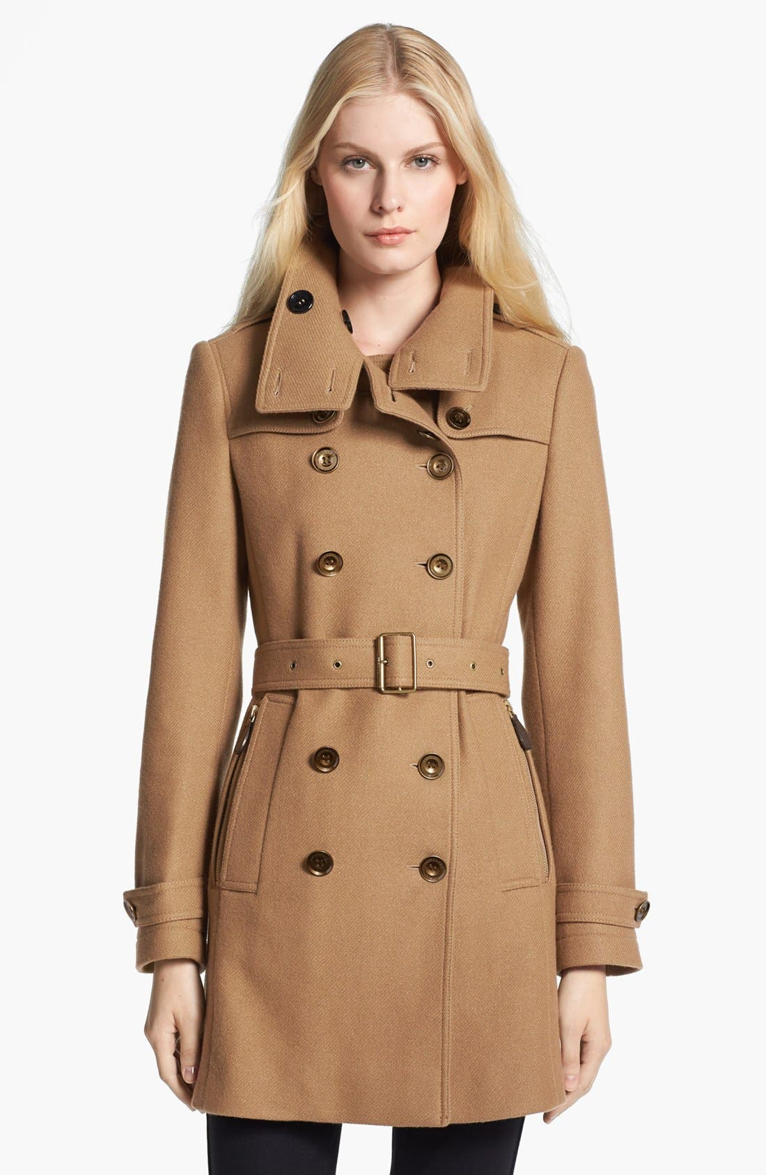 Main Image - Burberry Brit 'Daylesmoore' Wool Blend Trench Coat