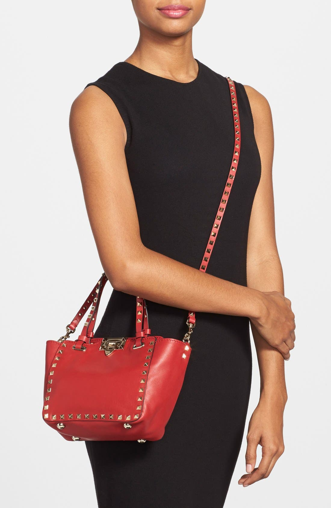 Alternate Image 2  - Valentino 'Micro Mini Rockstud' Leather Tote