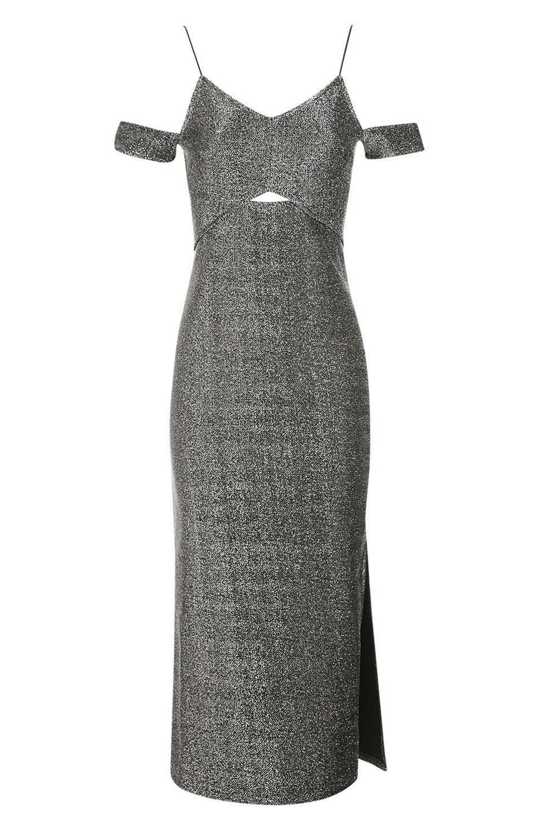 Alternate Image 4  - Topshop Cold Shoulder Midi Dress