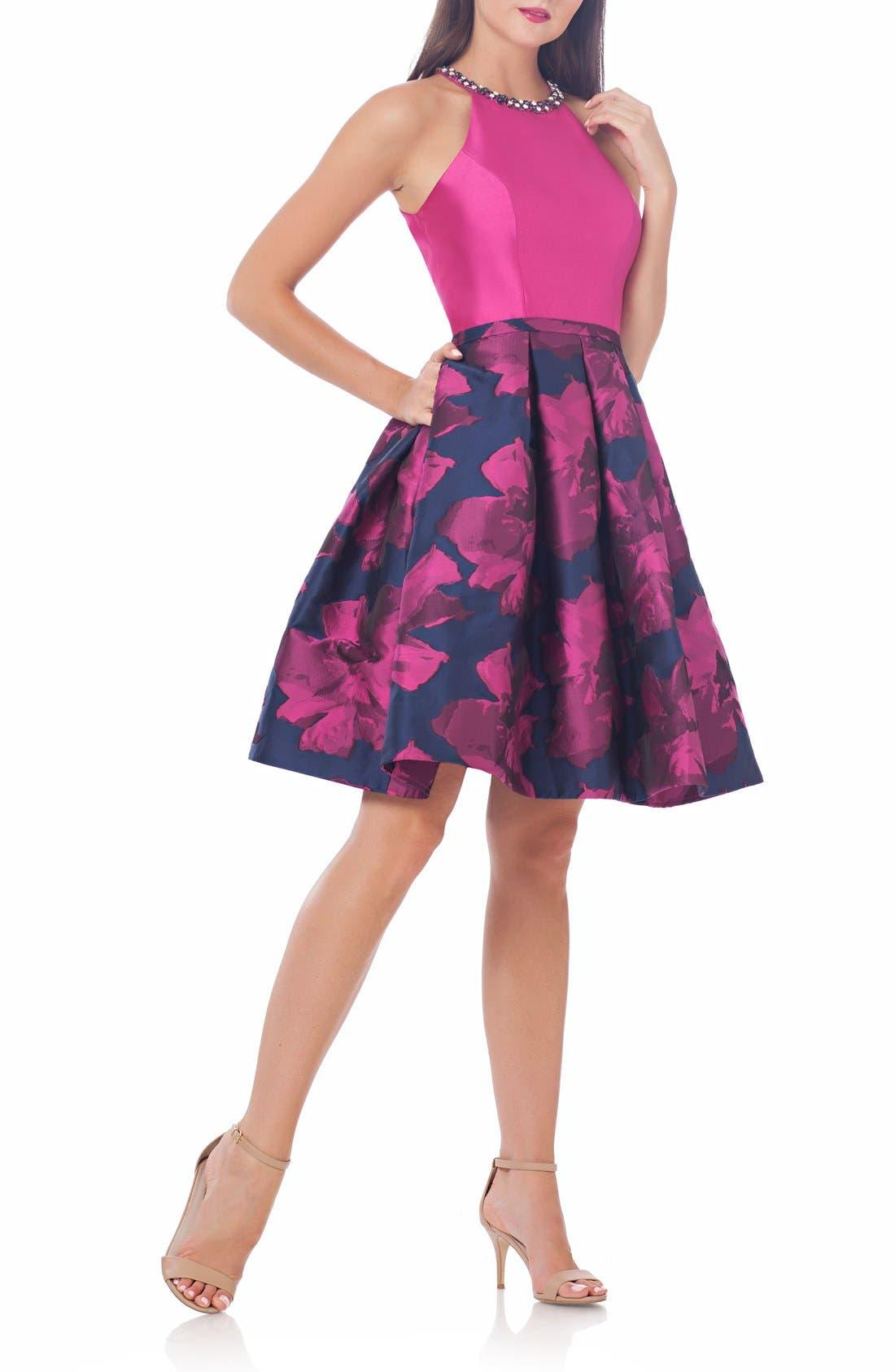 CARMEN MARC VALVO INFUSION Fit & Flare Dress