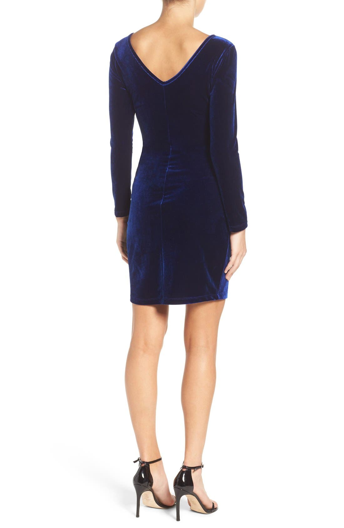 Alternate Image 2  - Fraiche by J Velvet Body-Con Dress