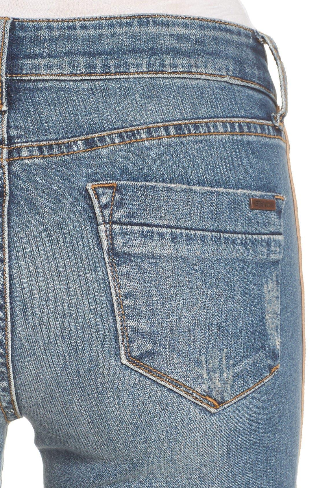 Alternate Image 5  - STS Blue Piper Athletic Stripe Skinny Jeans (West Oakville)