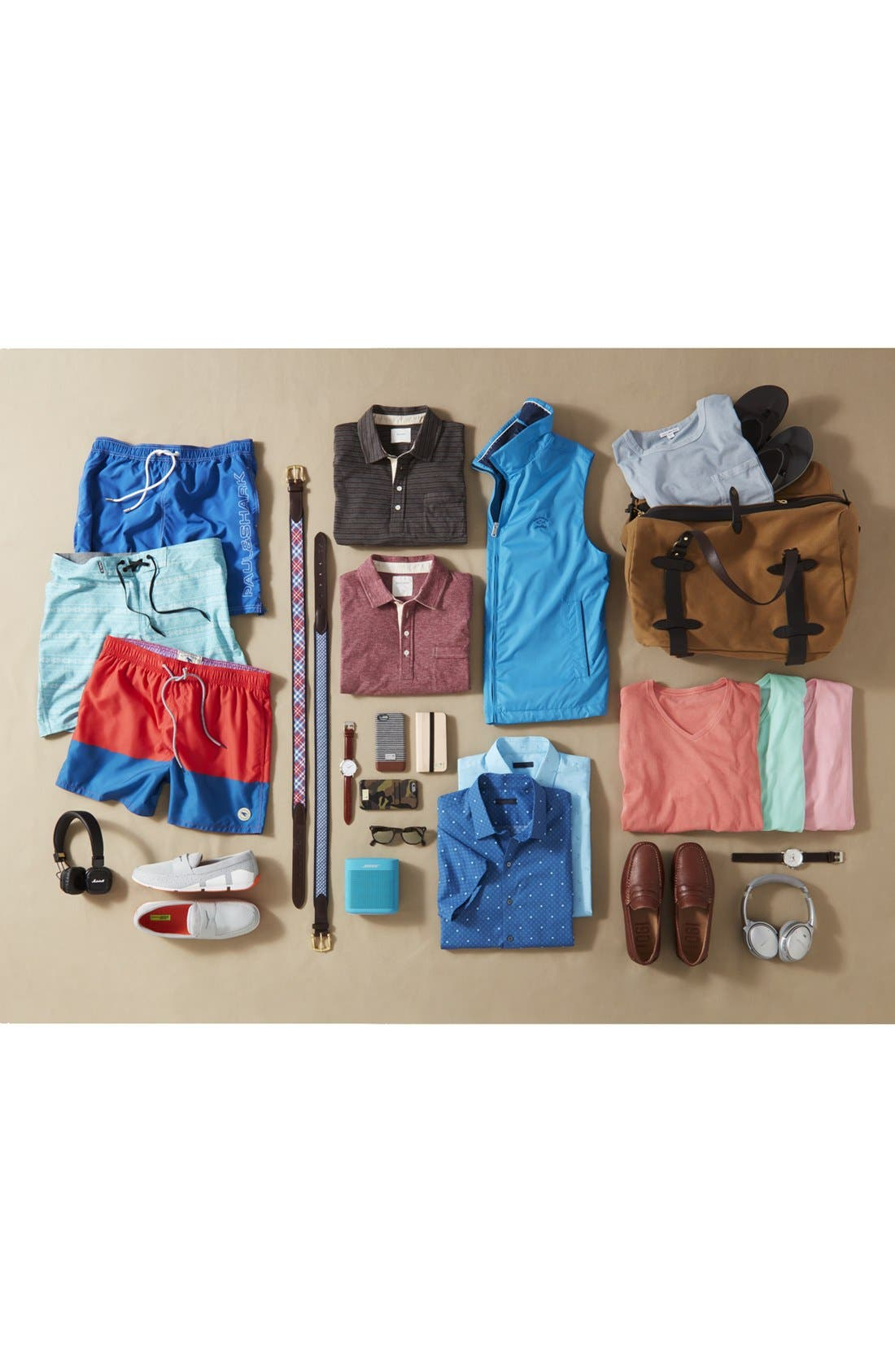 Alternate Image 7  - Billy Reid 'Pensacola' Mini Stripe Slim Fit Jersey Polo