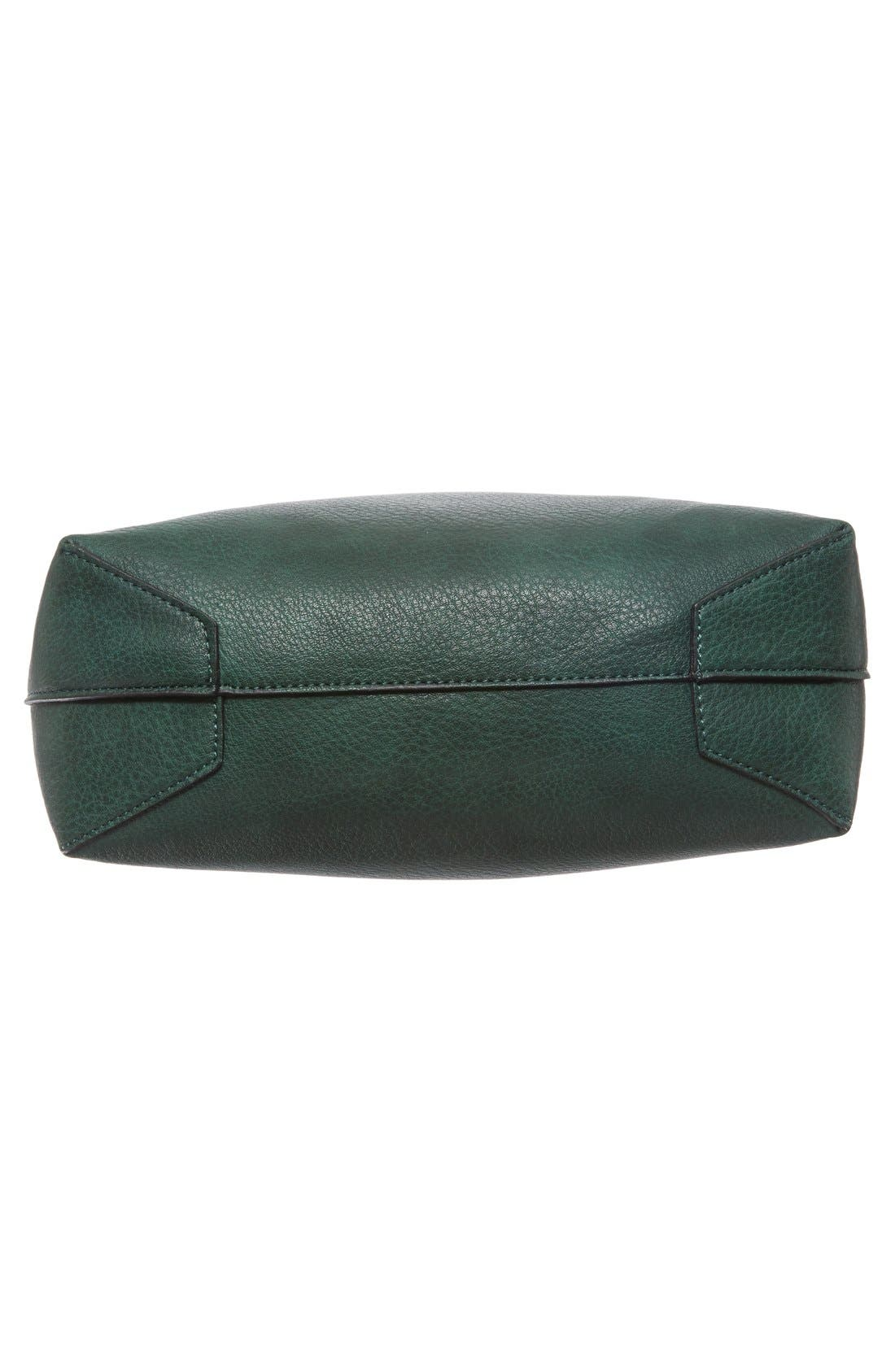 Alternate Image 6  - Street Level Faux Leather Dome Tote