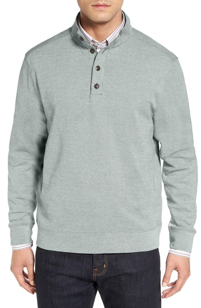 Cutter buck 39 quinalt 39 mock neck pullover big tall for Big and tall mock turtleneck shirt