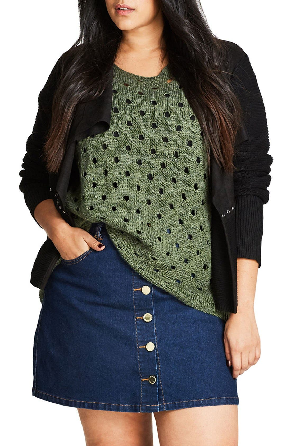 Alternate Image 1 Selected - City Chic Mystery Cardigan (Plus Size)