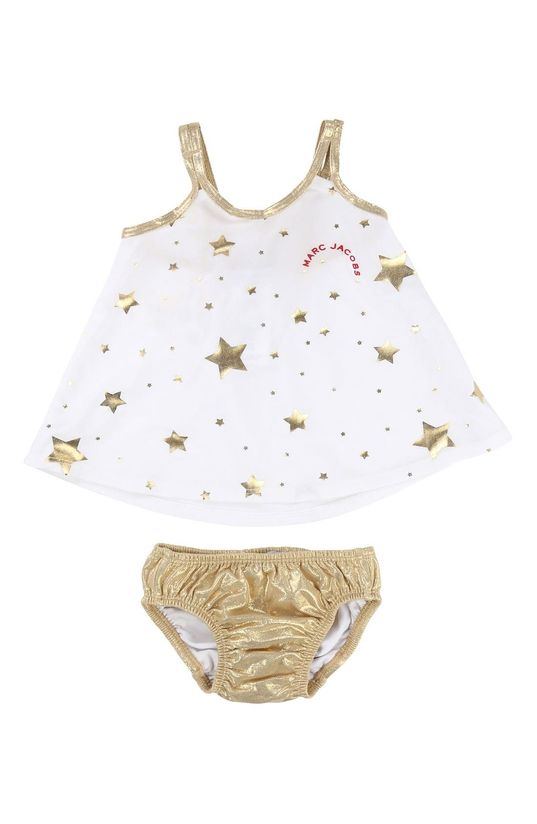 LITTLE MARC JACOBS Star Print Two-Piece Swimsuit