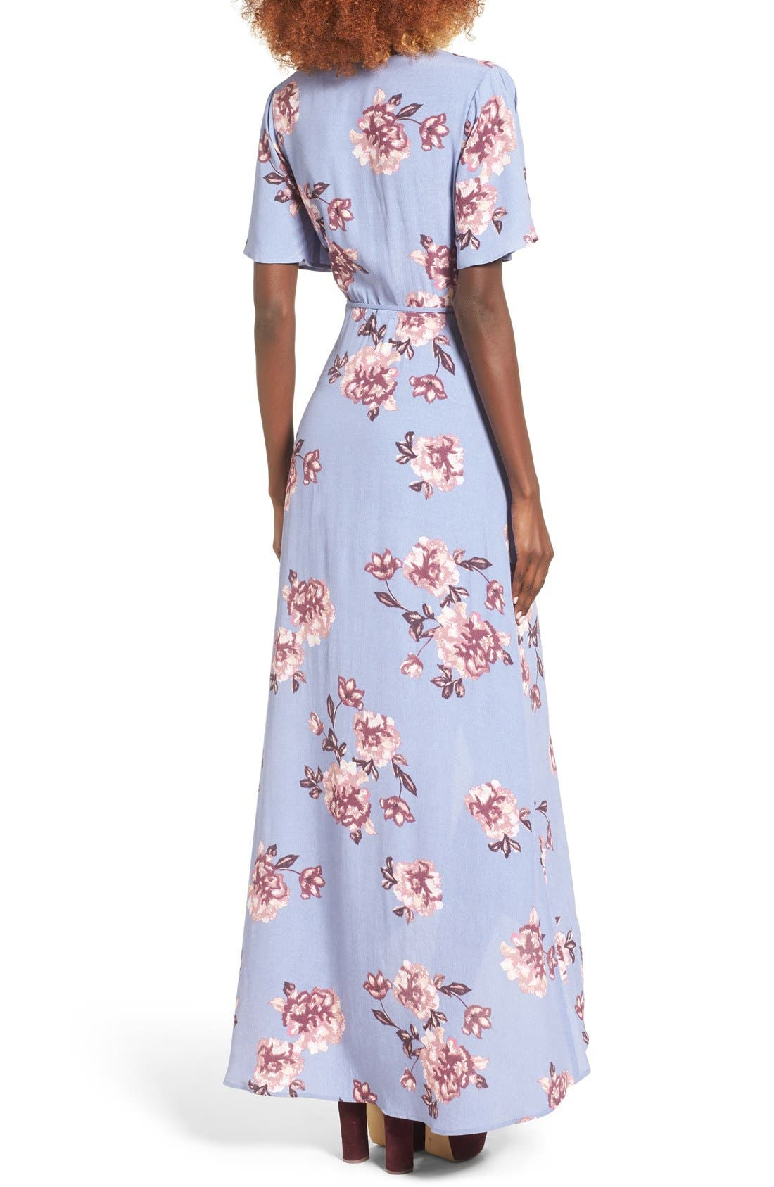 Alternate Image 3  - ASTR Selma Floral Print Wrap Dress
