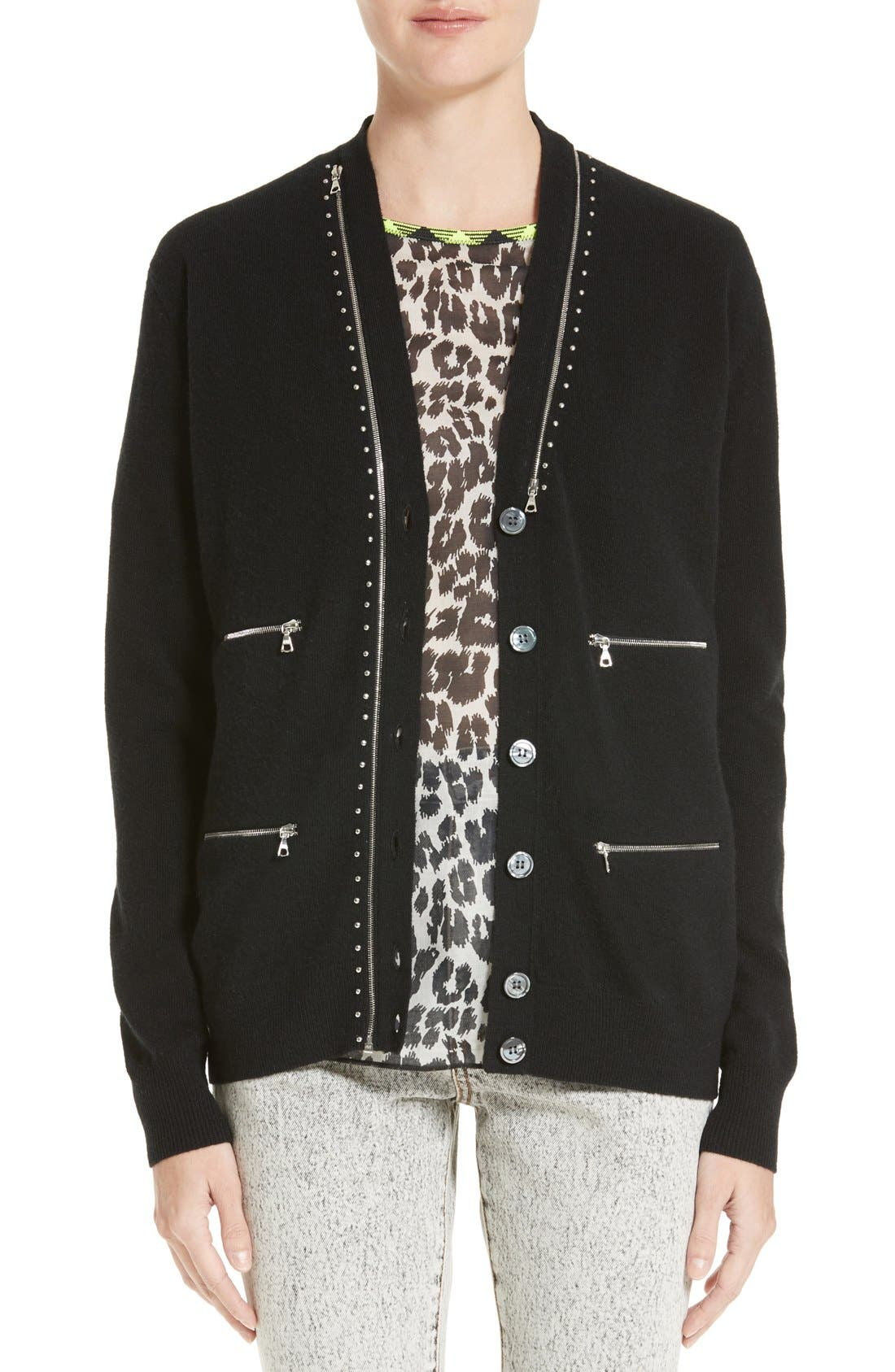 Main Image - MARC JACOBS Zip Detail Wool Cardigan