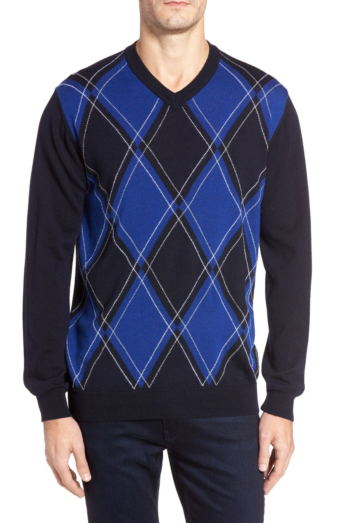 Bugatchi Argyle Wool Sweater