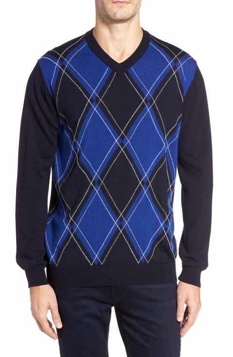 Bugatchi Argyle Wool Sweater
