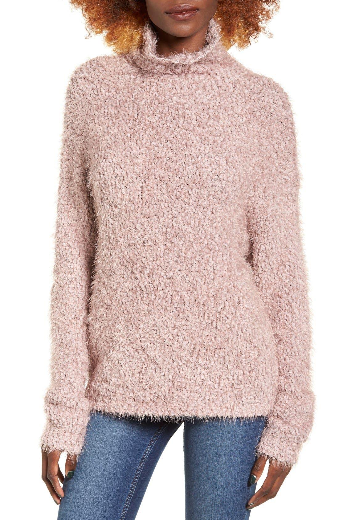 Main Image - BP. Fluffy Knit Mock Neck Pullover