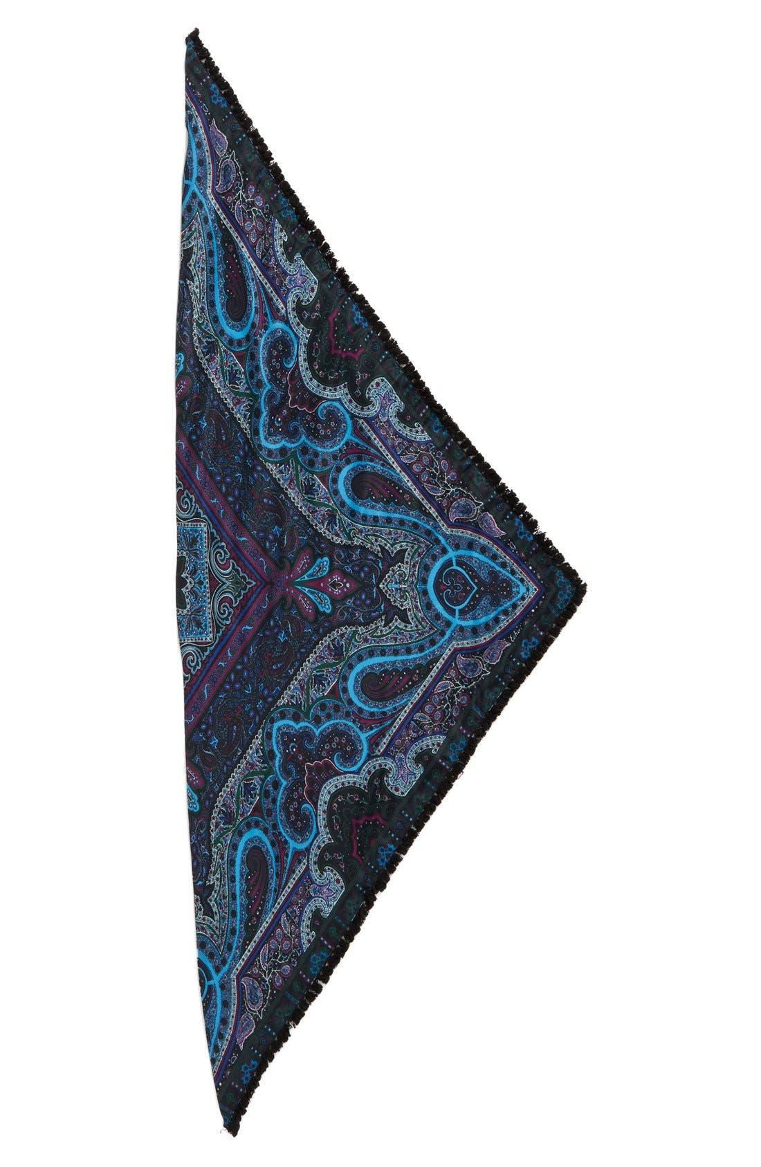Alternate Image 2  - Echo Paisley Silk Triangle Scarf